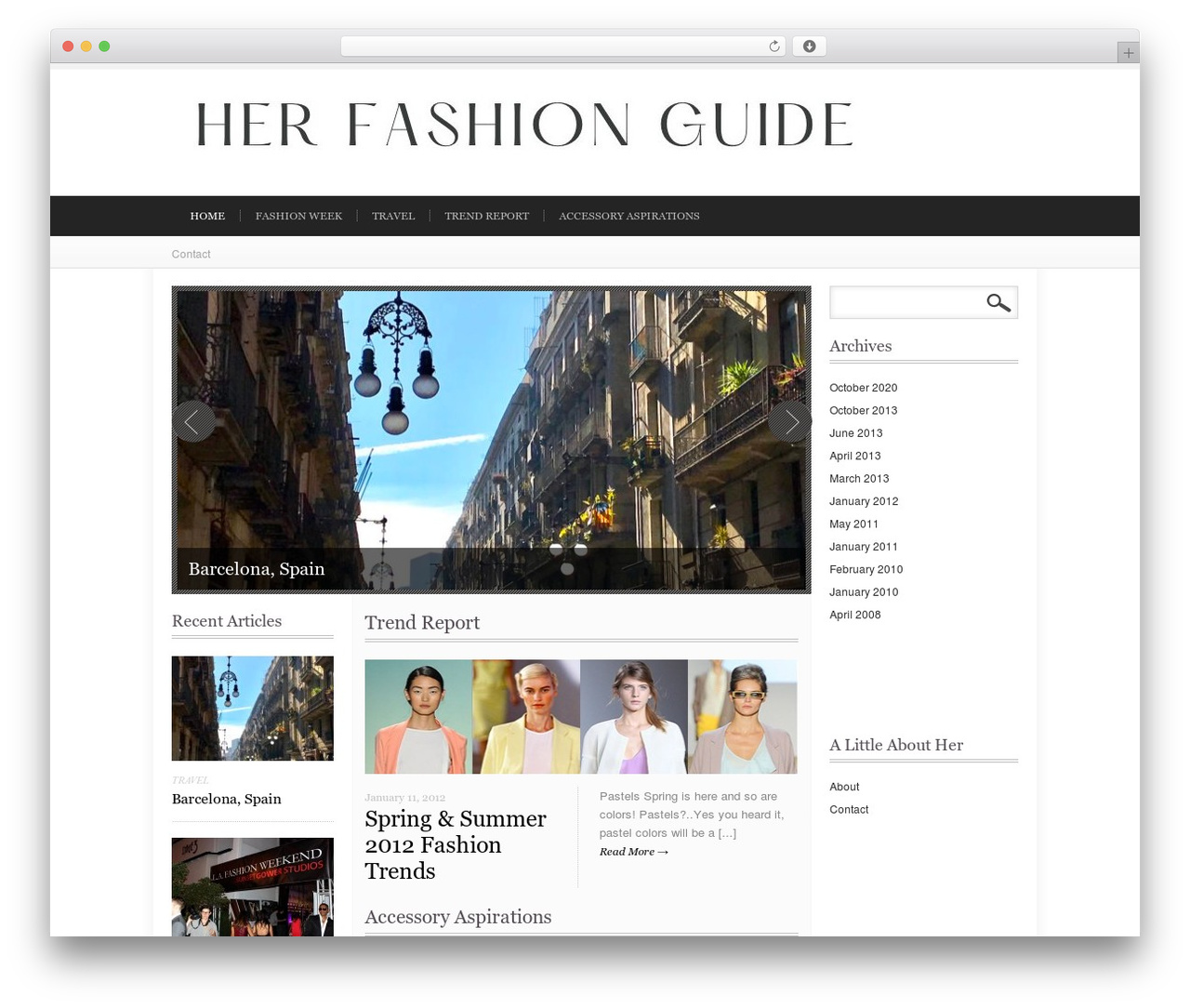 Impulse fashion WordPress theme - herfashionguide.com