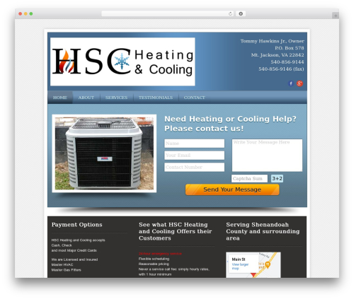 Local Business Pro Responsive Theme WordPress theme - hscheatingandcooling.com