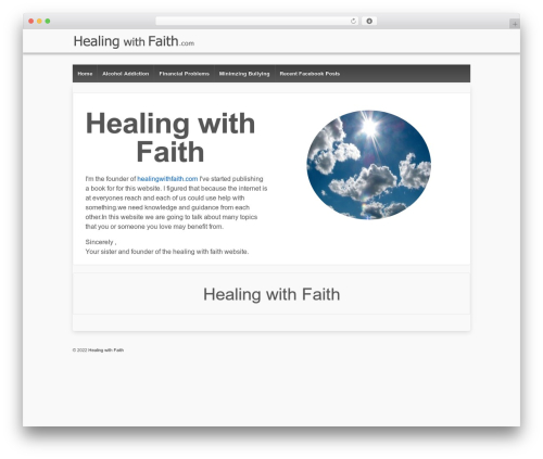 Responsive WordPress template free download - healingwithfaith.com