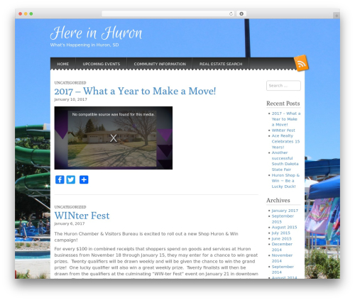 Snowblind WordPress theme download - hereinhuron.com