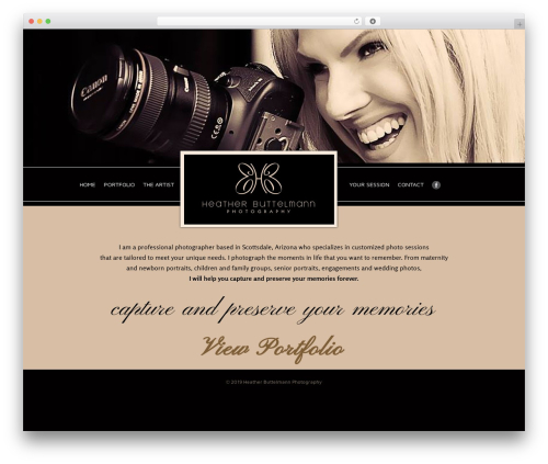 Theme WordPress Responsive - heatherbuttelmannphotography.com