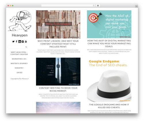 WordPress theme Side Grid Responsive WordPress Theme - heavypen.com