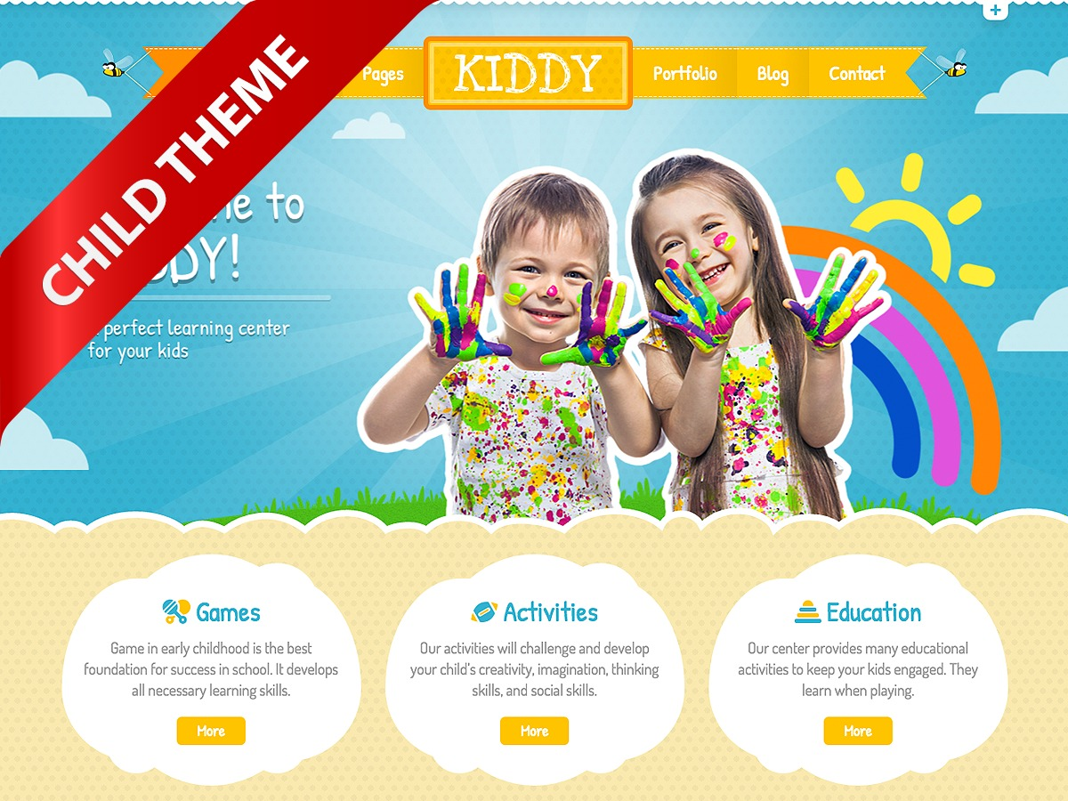 Kiddy (Child Theme) WP theme