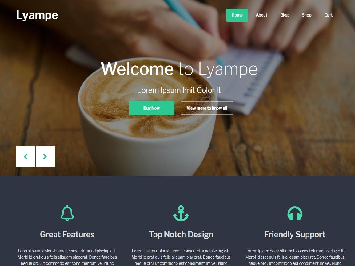 Lyampe WordPress magazine theme