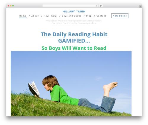 Minus WordPress website template - hillarytubin.com