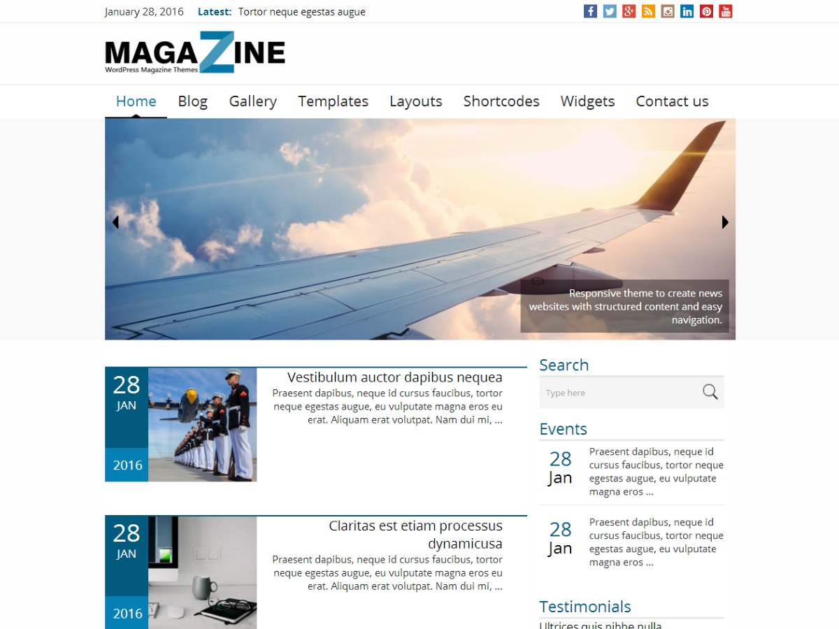News Magazine WordPress template for business