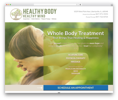 Outreach Pro premium WordPress theme - healthybodyandhealthymind.com