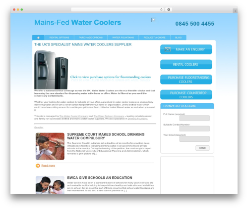 WordPress theme Modular - mains-fedwatercoolers.co.uk