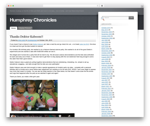 WP theme Fusion - humphreychronicles.com