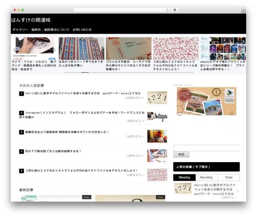 Best WordPress template Sentry - hansuke.net