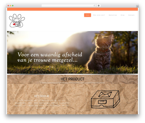 Organic Food WordPress theme - handle-withcare.nl