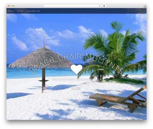 Arcade Basic theme WordPress free - beachchairmoments.com