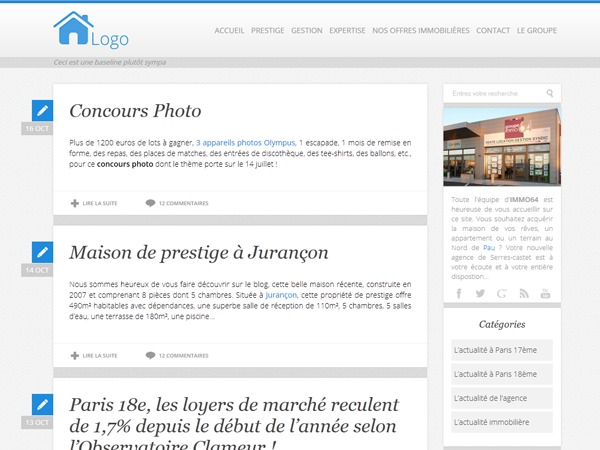 Blog Poliris WordPress blog template