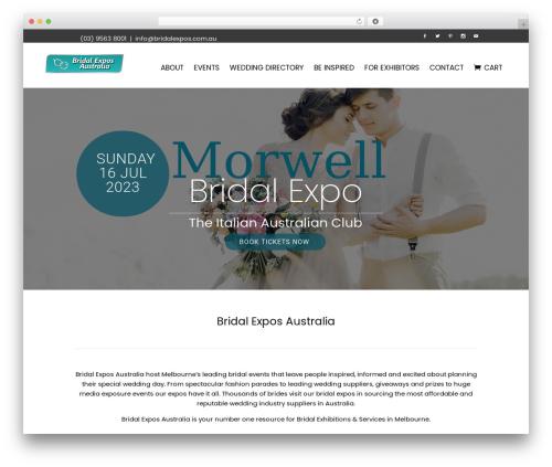 Bridge best wedding WordPress theme - bridalexpos.com.au