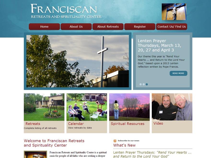 Franciscan Retreats WordPress gallery theme