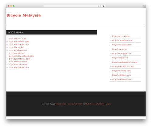 Genesis best WordPress theme - bicyclemalaysia.com