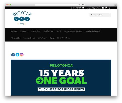 Theme WordPress Storefront - bicycleone.com
