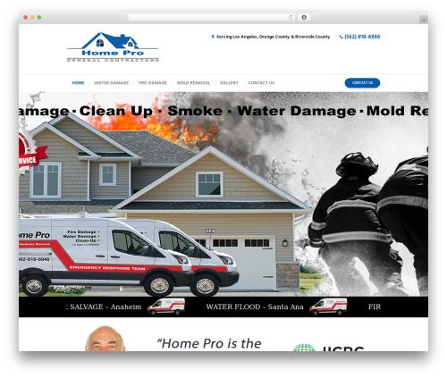 WordPress template Insurance-Ancora - homeproe.com