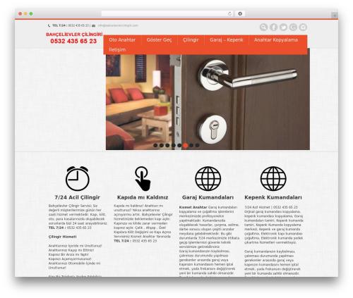 WordPress website template Nevon Theme - bahcelievlercilingiri.com