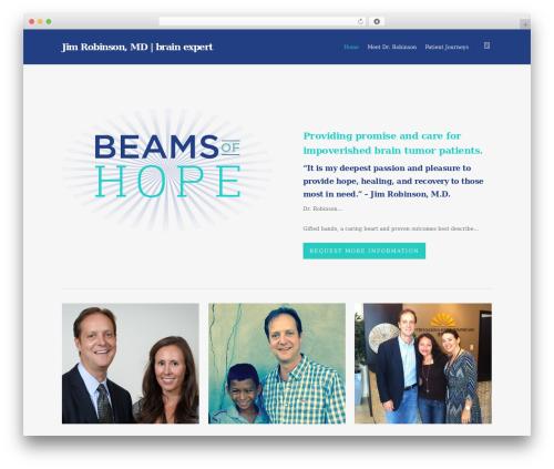 WordPress website template Salient - beamsofhope.com