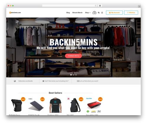 aardvark template WordPress - backin5mins.com