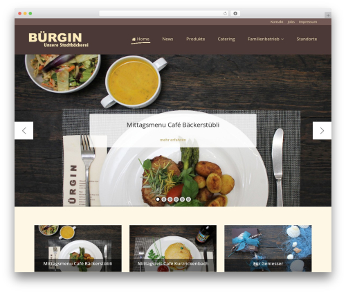 Best WordPress theme Cookbook - buergin-baeckerei.ch