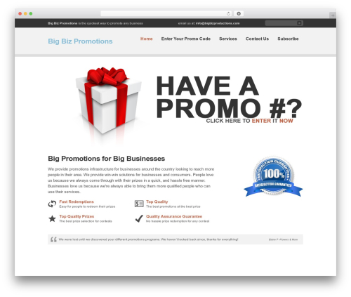 Clearly Modern theme WordPress - bigbizpromotions.com