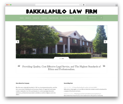 Evolution WordPress website template - bb-lawgroup.com
