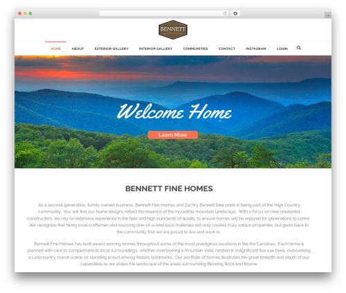 Jupiter WordPress theme - bennettfinehomes.com