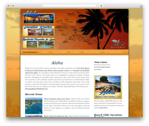 WordPress social plugin - beachvillarealty.com