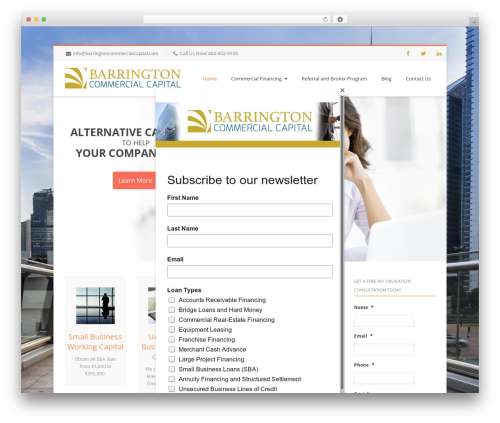 Free WordPress MailChimp for WordPress plugin - barringtoncommercialcapital.com