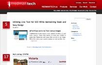 Redman Blog 2.0 WordPress blog template