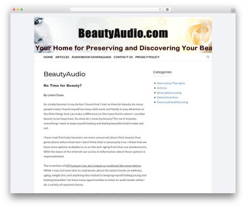Socrates v5 WordPress theme - beautyaudio.com