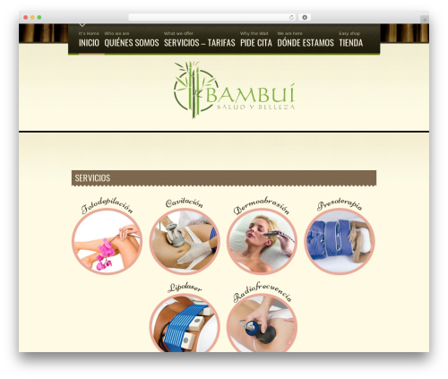 Spa Treats WP template - bambui.es