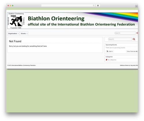 Suffu-scion best WordPress template - biathlon-orienteering.org/en