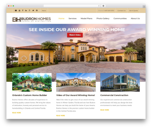 Theme WordPress Construction - budronhomes.com