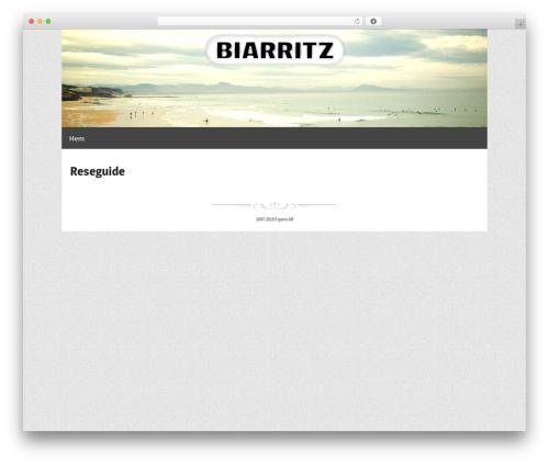 WordPress theme Responsive Pro - biarritz.se