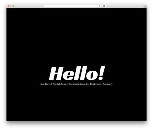 WordPress website template Movedo - benklemm.de