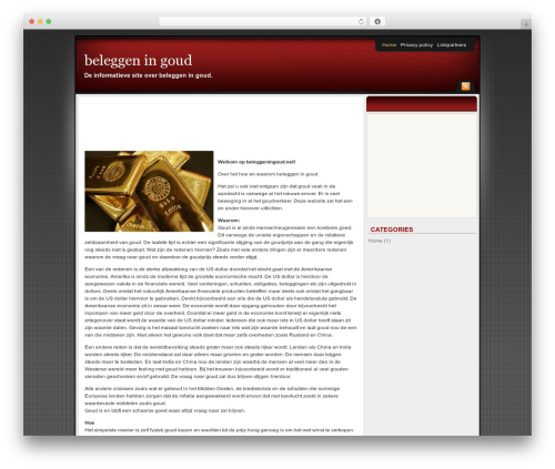 Affiliate Internet Marketing theme WordPress theme - beleggeningoud.net