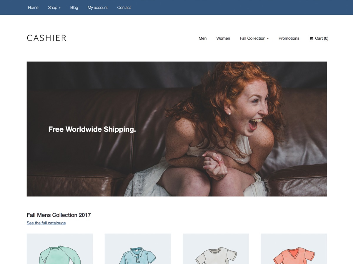 Cashier WordPress shop theme