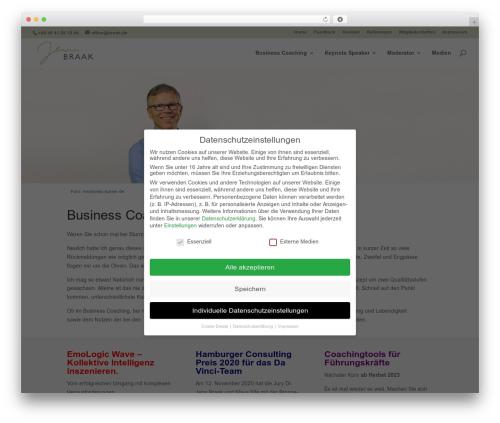 Divi WordPress template for business - braak.de