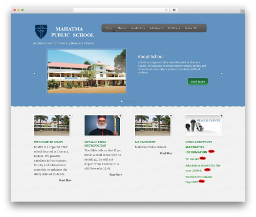 Template WordPress Feather Child BCMPS by Your name here