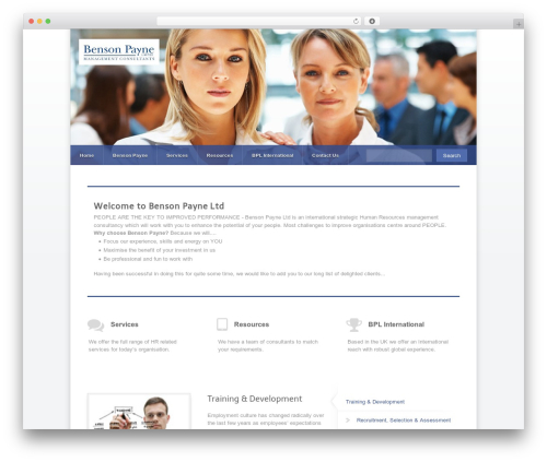 Razor WordPress page template - bensonpayne.co.uk