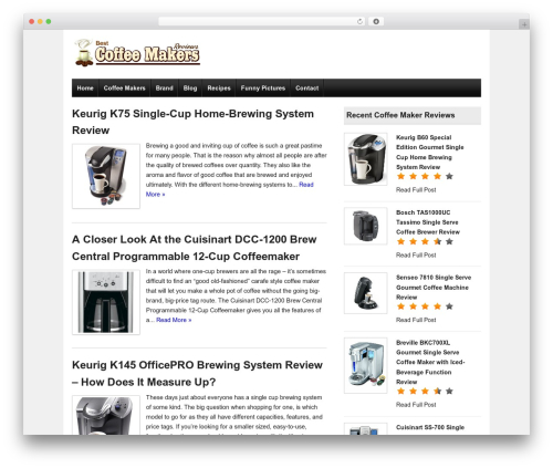 Ready Review best free WordPress theme - best-coffeemakers-reviews.com