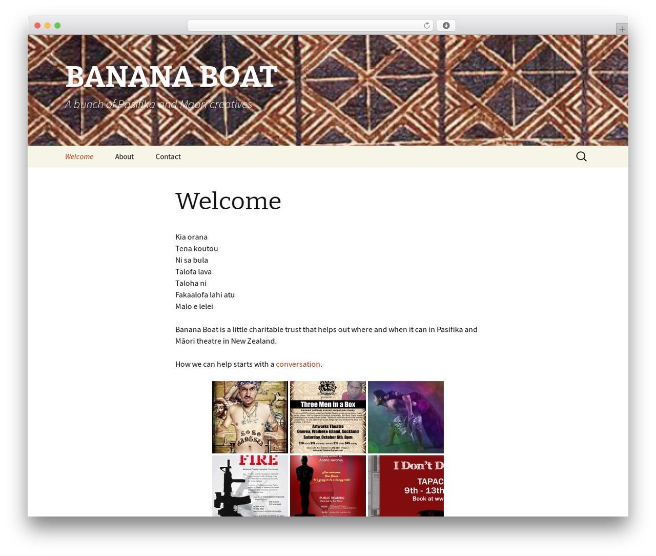 Twenty Thirteen WordPress website template - bananaboat.org.nz