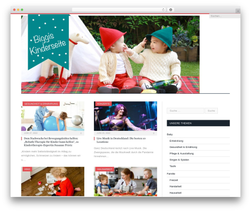 WordPress theme SmartMag - biggis-kinderseite.de
