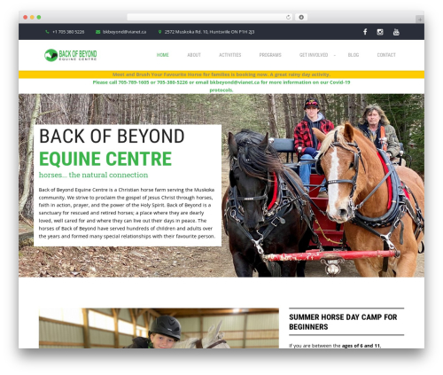 WP theme GoGreen - backofbeyondequinecentre.com