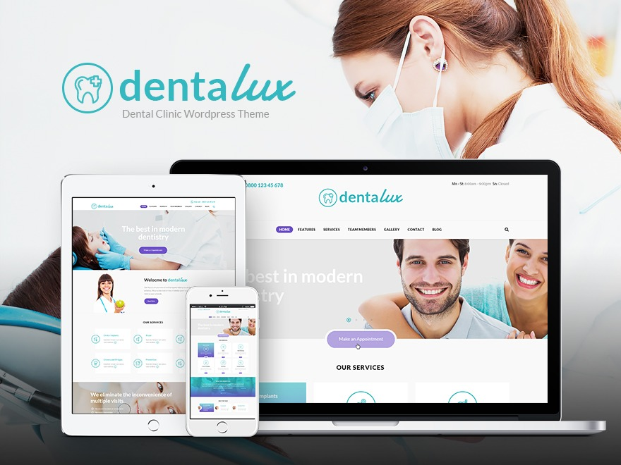 Dentalux Child WordPress theme design