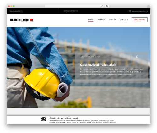 Industrial WordPress page template - biemme2.com