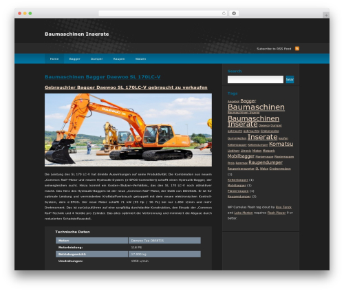 Theme WordPress deCoder - baumaschinen-inserate.com